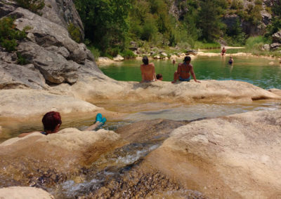 Randonnées-baignades en Sierra De Guara:  Rio Vero et Rio Balced